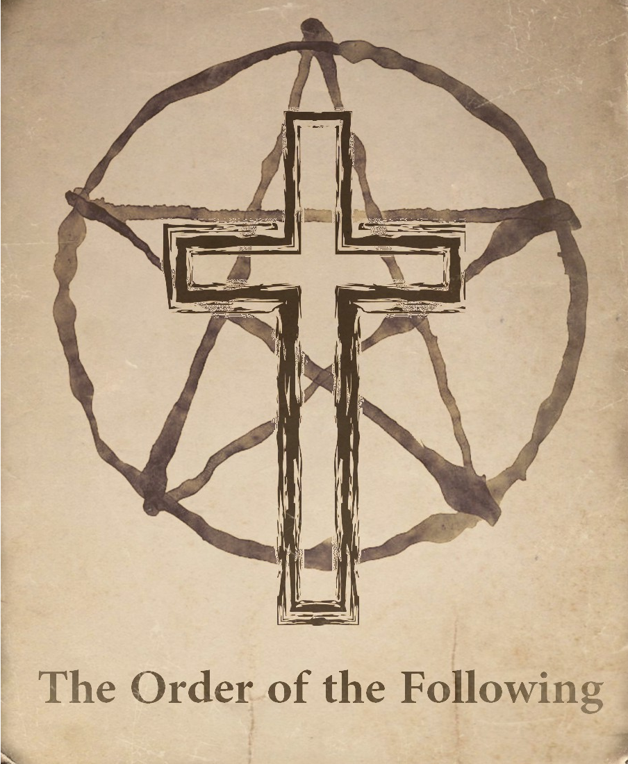 the order symbol (weathered with title)